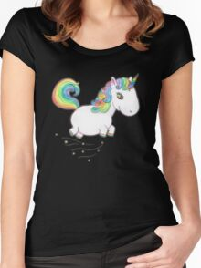 TINY UNICORN SOLO - FUNDRAISER 50 4 50 Women's Fitted Scoop T-Shirt