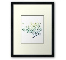 Whimsical Blue, Aquamarine Tree Framed Print