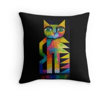 Wilfred the cat Throw Pillow