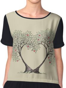 love trees Chiffon Top