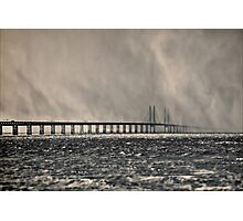 Snow Storm Out at Sea. Photographic Print