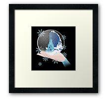 Elsa's Snow Globe Framed Print
