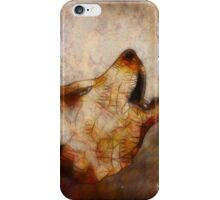 abstract howling wolf iPhone Case/Skin