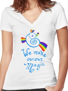We Make Our Own Magic Women's Fitted V-Neck T-Shirt