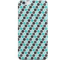 Aqua blue and gray hexagon pattern iPhone Case/Skin
