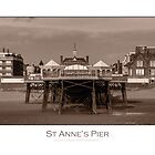 The pier at St Anne's by Alan Robert Cooke