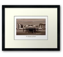 The pier at St Anne's Framed Print
