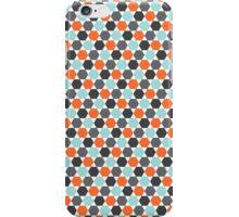 Orange, aqua blue and gray hexagon pattern iPhone Case/Skin