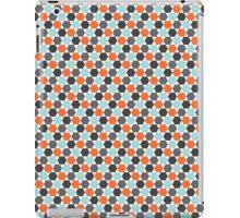 Orange, aqua blue and gray hexagon pattern iPad Case/Skin