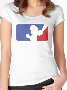 Major League Mario Women's Fitted Scoop T-Shirt