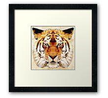 abstract tiger Framed Print