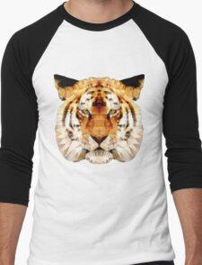 abstract tiger Men's Baseball ¾ T-Shirt