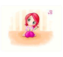 Cute Cindy Anime Manga Chibi Colorful Art Print