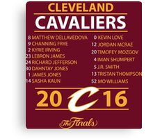 Cleveland Cavaliers 2016 NBA Champions vs. Golden State Warriors Canvas Print