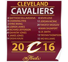 Cleveland Cavaliers 2016 NBA Champions vs. Golden State Warriors Poster