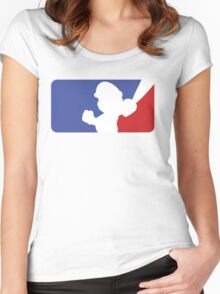 Major League Mario (No Border) Women's Fitted Scoop T-Shirt