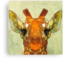 abstract giraffe calf Canvas Print