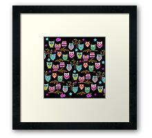 funky owls  Framed Print