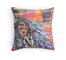 Sleeping Warrior Throw Pillow