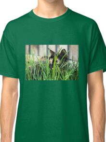 Cat in grass (Clothing products) Classic T-Shirt