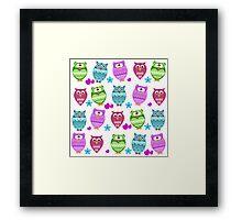 funny owls Framed Print