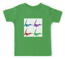 Coloured Crocodiles Kids Tee