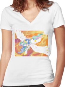 The Sun Princess Women's Fitted V-Neck T-Shirt