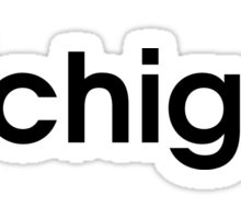 Michigan Adidas Font Sticker