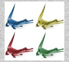 Four Coloured Crocodiles Baby Tee