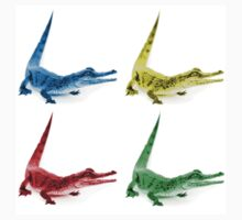 Four Coloured Crocodiles One Piece - Short Sleeve