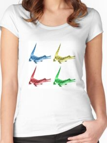 Four Coloured Crocodiles Women's Fitted Scoop T-Shirt