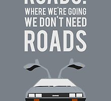Back To The Future 'Roads' - Grey by Nik Jones