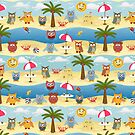 summer owls by Ancello