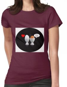 Kiss The Cook Pillow II Womens Fitted T-Shirt
