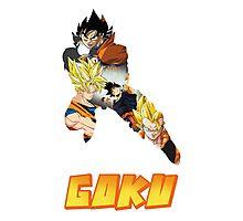 Goku DBZ w/ Title Photographic Print