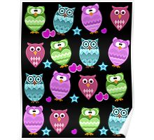 funny owls Poster