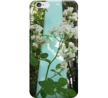 White Flowers and Blue Gate iPhone Case/Skin