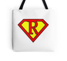 R letter in Superman style Tote Bag