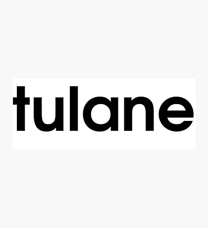 Tulane Adidas Font Photographic Print