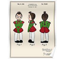 Creepy Doll Patent Poster