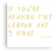 Lebron James Rings Finals 2016 NBA Canvas Print