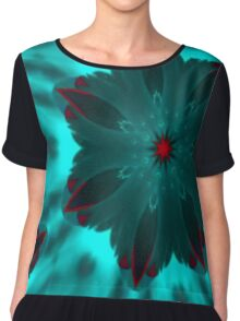 Backlit Aqua Chiffon Top