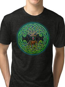 Yggdrasil Celtic Viking World Tree of Life color Tri-blend T-Shirt