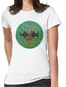 Yggdrasil Celtic Viking World Tree of Life color Womens Fitted T-Shirt