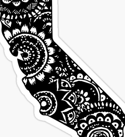 California Outline Doodle Sticker