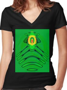 Cult of the Radioactive Frog Women's Fitted V-Neck T-Shirt