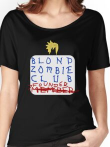 Blond Zombie Club- Founder (Black) Women's Relaxed Fit T-Shirt