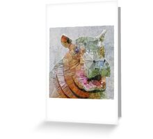 abstract hippo Greeting Card