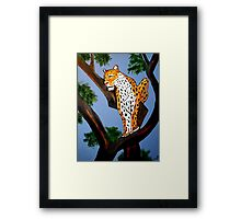 ART DECO  LEO THE KING OF CATS Framed Print