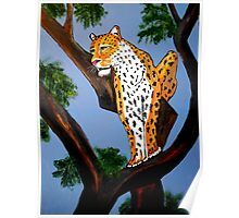 ART DECO  LEO THE KING OF CATS Poster